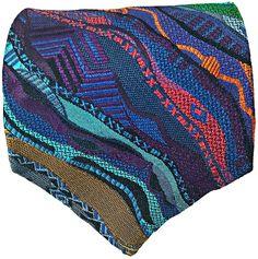 COOGI NECKTIE Multi-Color GEOMETRIC 100% Silk Classic Designer Tie MADE in USA  #COOGI #NeckTie