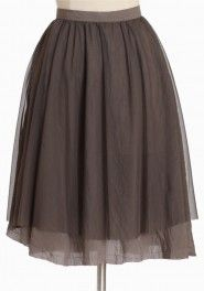 truffle toule skirt avm- love the brackish brown needs embelishment!!!