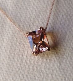 Hey, I found this really awesome Etsy listing at https://www.etsy.com/listing/178967286/morganite-necklace-rose-gold