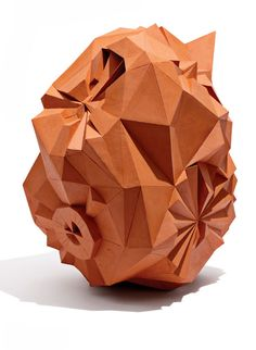Karen Bennick. Ceramic. From an exibition called Geometrical Evolution.  Imagine!!