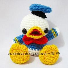 Baby Donald Duck amigurumi pattern by Sweet N' Cute Creations