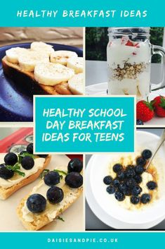 Healthy breakfast ideas for teens they'll actually enjoy eating and they're all quick enough to make on a busy school morning. #breakfastrecipes