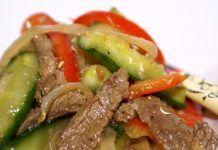 Огурцы с мясом по корейски- блюдо которое нравиться абсолютно всем, кто уже успел приложиться!