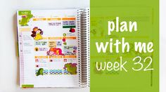 Plan with me (ECLP) -  Week 32