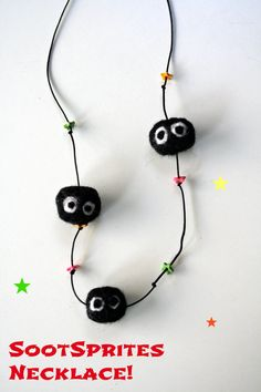 Soot Sprites Necklace / Studio Ghibli Inspired by Phizzwizards, €10.00