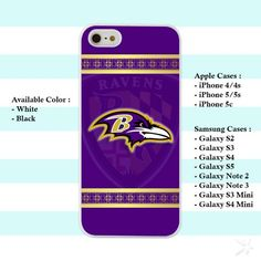 Custom Baltimore Ravens Logo iPhone 4 4s 5 5s 5c Case Cover