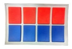 Star Wars Costumes Imperial Officer Ranking Bar - Red and Blue x 4 - Major available from JediRobeAmerica.com #StarWarsCostumes #ImperialOfficer