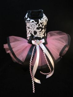 NEW Couture Elegance Ribbon Dog Tutu Dress XS _ Dog Clothes _ Holiday _ Harness #HandMade