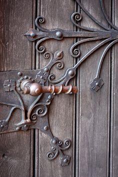 Title: Pelplin - the door of the cathedral Cool Doors, The Doors, Unique Doors, Windows And Doors, Door Knobs And Knockers, Knobs And Handles, Door Handles, Door Detail, Door Gate
