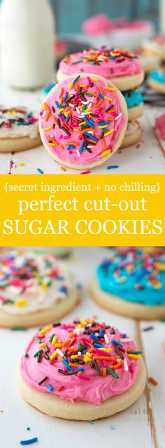 2 secret ingredients make up the softest and BEST sugar cookies that require no chilling.