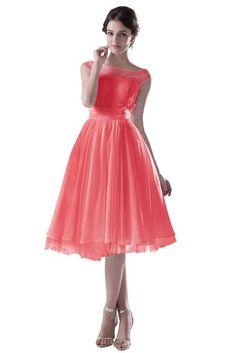 Dresstells Damen Kleider Kurz Chiffon Tüll Brautjungfernkleid Abendkleid: Amazon.de: Bekleidung