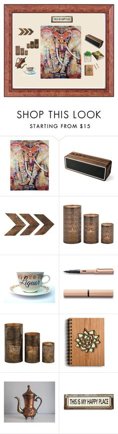 """""""This Is My Happy Place"""" by experienceheadphones on Polyvore featuring interior, interiors, interior design, home, home decor, interior decorating, WALL, Home Decorators Collection, Poncho & Goldstein and Barska"""