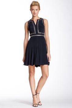 Rebecca Taylor Sleeveless Embellished Bodice Silk Dress @okg123