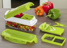 Genius Nicer Dicer Plus Multi Chopper Vegetable & Fruit Cutter Slicer Item Nicer Dicer Plus, Genius Nicer Dicer, Vegetable Slicer, Kitchen Helper, Buy Kitchen, Nicer Dicer Fusion, Appetizers, Meals, Cubes