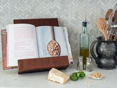 The handmade gift experts at HGTV.com share step-by-step instructions for building your own wooden stand to support a cookbook or a tablet.