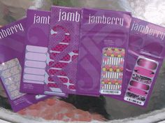 JAMBERRY  NAIL WRAPS LOT OF 5 NEW RETIRED MANI MUDDY GIRL CATS WAIKIKI SUGAR…