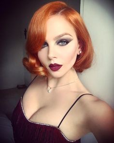love the hair color and the makeup - so pretty.  from:  Tiah Eckhardt-Delaney (@the_tiah) • Instagram photos and videos
