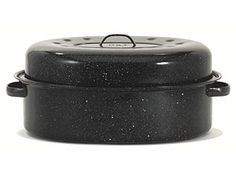 #holidaycooking 19-in. Oval Roaster with Lid by Granite Ware by Granite Ware at Cooking.com - Just like the one my grandmother used for Thanksgiving and Christmas turkeys.  LOVE! $29.95