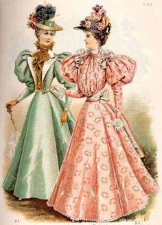 1890 Women Fashion   Vintage Victorian: 1890s Day Dress Details