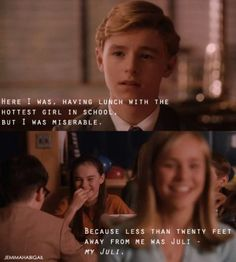 Juli Baker and Bryce Loski in Flipped Film Quotes, Book Quotes, Love Movie, Movie Tv, Perfect Movie, Darling Movie, Movies Showing, Movies And Tv Shows, Movies To Watch