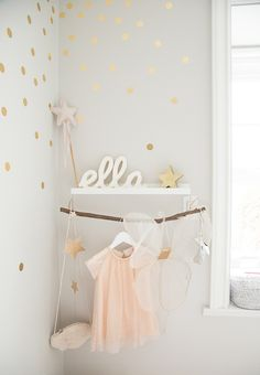 A chic toddler room inspired by Pantone's color of the Year. It pairs rose quartz with gold accents and whimsical details like a play tent and a dress-up corner perfect for a little girl's bedroom. Little Girl Bedrooms, Big Girl Rooms, Pretty Kids, Pretty Room, Baby Bedroom, Girls Bedroom, Girl Nursery, Nursery Decor, Room Baby