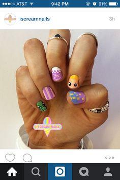 Tangled nail art Iscream nails