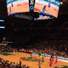 En el Madison Square Garden viendo a las Liberty New York y las Chicago Sky de la WNBA @nyliberty #wnba #basketball #basket #madisonsquaregarden #baloncesto #picoftheday #igers #igersnyc