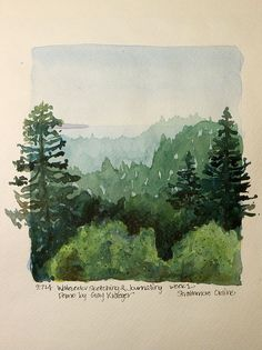 Neat idea, painting outside the frame Stacy Egan - Workshop Watercolor Sketching & Journaling Watercolor Techniques, Art Techniques, Watercolor Tutorials, Painting Inspiration, Art Inspo, Painting & Drawing, Gouache Painting, Watercolor Trees, Watercolor Journal