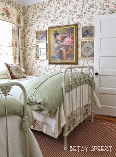 Custom wall scape design services decorate with for English country cottage bedroom ideas
