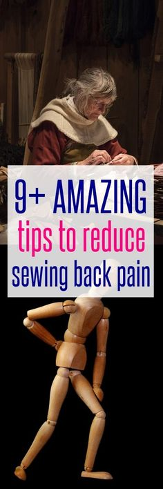 sewing tips | sewing back pain | sewing for beginners | learn to sew | free sewing patterns