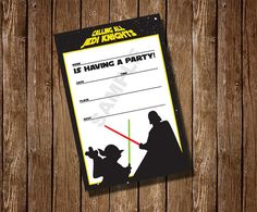 Star Wars Fill in the blank Birthday Party by TraciBlehm on Etsy