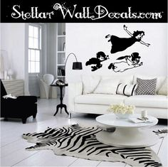 Wendy, John, and Michael Darling Flying wall decal.