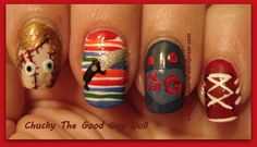 Chucky The Good Guy Doll - Nail Art Gallery by NAILS Magazine