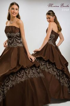 #Brown #ball gown