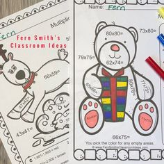 Christmas Critters Color By Number 2-Digit By 2-Digit Multiplication - You will love the no prep, print and go ease of these Christmas Color By Number 2-Digit By 2-Digit Multiplication Christmas Critter Themed Printable Worksheet Resources. This Christmas Critter Color By Number 2-Digit By 1-Digit Multiplication Resource includes 5 pages for introducing or reviewing multiplication of 2-Digit By 2-Digit numbers. FIVE Answer Keys also included. Two Digit Multiplication, Multiplication Activities, Fun Activities, Math Math, Math Fractions, Math Games, Christmas Color By Number, Christmas Colors, Christmas Ideas