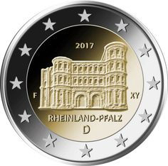 Detailed image and information about 2 euro coin Rheinland-Pfalz: Porta Nigra from Germany issued in The coin is part of series Commemorative 2 euro coins. Visit the best collector and commemorative coin website: The Collector Coins. Euro Währung, Piece Euro, Euro Coins, Commemorative Coins, World Coins, Coin Collecting, Silver Coins, Germany, Bento