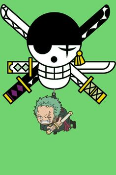 One Piece Zoro & his Jolly Roger One Piece Anime, Zoro One Piece, Roronoa Zoro, Otaku, Logo Manga, Manga Anime, One Piece Tattoos, One Piece World, One Peace