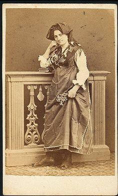 Italian woman in folk dress