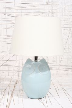 Hector the Owl Blue Lamp UK Plug
