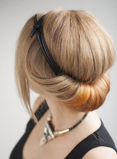 This rolled updo is the ultimate 5-minute hair.