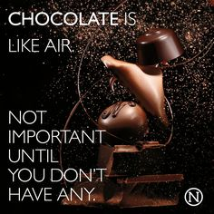 Perish the thought of running out of chocolate. Death By Chocolate, I Love Chocolate, How To Make Chocolate, Chocolate Lovers, Chocolate Quotes, Chocolate Recipes, Sweet Quotes, Recipes From Heaven, Candy Shop