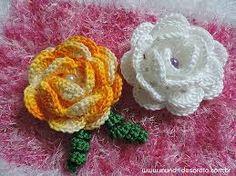 Resultado de imagem para rosas de croche