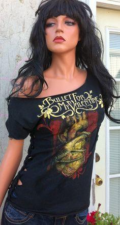 Bullet For My Valentine Shredded Band Shirt by TShreds on Etsy, $35.00