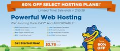 Get 60% web hosting for the next few hours only! At HostGator