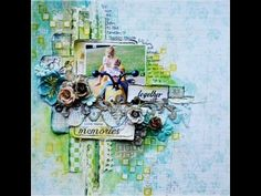 Scrapbooking Mixed Media Layout Tutorial - Once Upon A Sketch October Challenge - YouTube