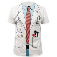 Men Police 3D T Shirt Doctor Gentleman Adult Funny Party Pirate Sailors Prisoner Halloween
