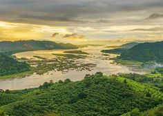 An aerial view of the vast Mekong River winding through Thailand © jakkreethampitakkull / Getty Images