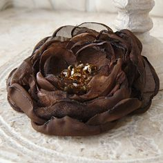 ❤ Vienna  Layered Flower Brooch Pin Accessory or Hair by Viridian