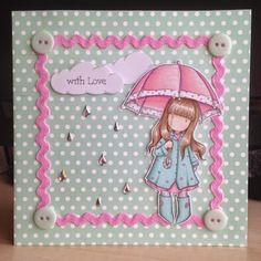 Little Lucy's Handmade Cards: Sending Puddles of Love... (Gorjuss Stamp)