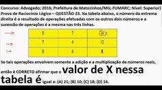 Curso Raciocínio Lógico Sequência números Teste Psicotécnico Detran Conc... https://youtu.be/YVqn7ZFwKYo